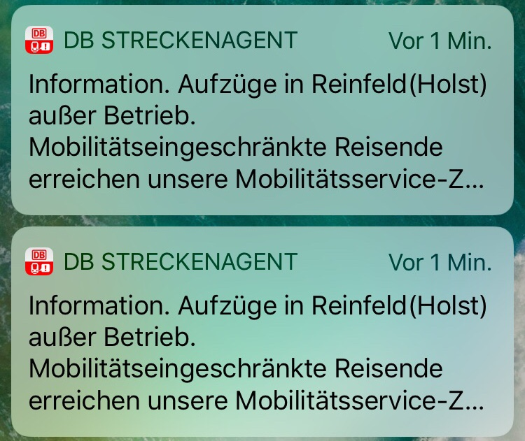Screenshot DB Streckenagent